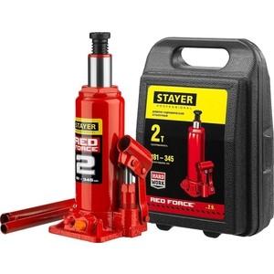 Домкрат гидравлический бутылочный Stayer 10т, Red Force (43160-10-z01) stayer profi 2942 z01