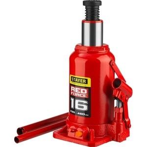 Домкрат гидравлический бутылочный Stayer 16т, Red Force (43160-16-z01) домкрат гидравлический бутылочный stayer 4т в кейсе red force 43160 4 k z01