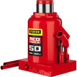 Домкрат гидравлический бутылочный Stayer 50т, Red Force (43160-50-z01)