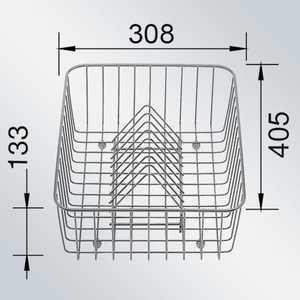 Корзина Blanco для посуды с держателями нерж сталь 405 х 308 136 мм (507829)