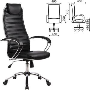 Кресло офисное Метта BC-5CH кожа хром черное 80128