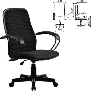 Кресло офисное Метта CP-5PL с подлокотниками, ткань-сетка, черное 82160