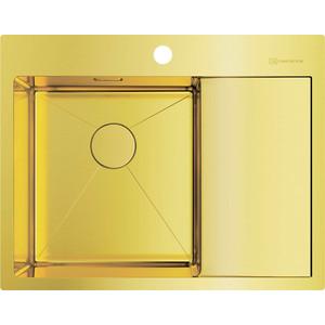 Кухонная мойка Omoikiri Akisame 65-LG-L светлое золото (4973083) мойка кухонная omoikiri akisame 41 lg 410 510 светлое золото 4973080