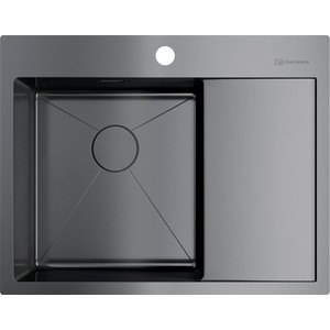 Кухонная мойка Omoikiri Akisame 65-GM-L вороненая сталь (4973097) кухонная мойка omoikiri akisame 51 gm 4973440