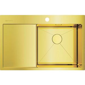 Кухонная мойка Omoikiri Akisame 78-LG-R светлое золото (4973086) мойка кухонная omoikiri akisame 41 lg 410 510 светлое золото 4973080