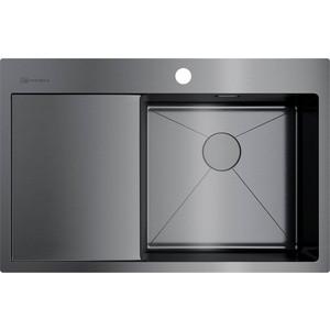 все цены на Кухонная мойка Omoikiri Akisame 78-GM-R вороненая сталь (4973100) онлайн