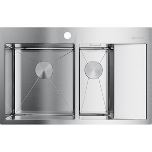 Кухонная мойка Omoikiri Akisame 78-2-IN-L нержавеющая сталь (4973062)