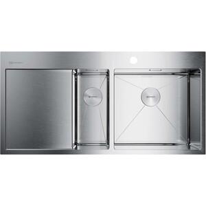 Кухонная мойка Omoikiri Akisame 100-2-IN-R нержавеющая сталь (4973547)