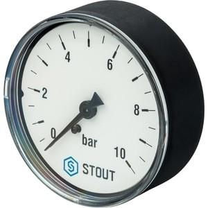 Манометр STOUT аксиальный Dn 63 мм 1/4 (SIM-0009-631008)