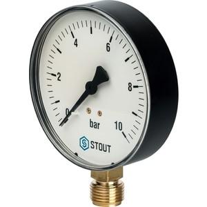 Манометр STOUT радиальный Dn 100 мм 1/2 (SIM-0010-101015)