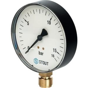 Манометр STOUT радиальный Dn 100 мм 1/2 (SIM-0010-101615)