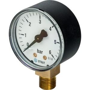 Манометр STOUT радиальный Dn 50 мм 1/4 (SIM-0010-500608)