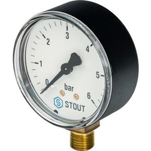 Манометр STOUT радиальный Dn 63 мм 1/4 (SIM-0010-630608)