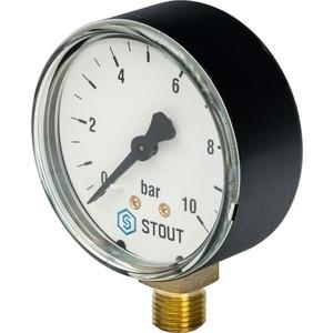 Манометр STOUT радиальный Dn 63 мм 1/4 (SIM-0010-631008)