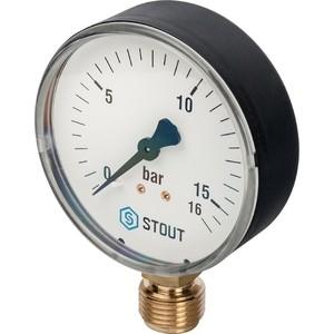 Манометр STOUT радиальный Dn 80 мм 1/2 (SIM-0010-801615)