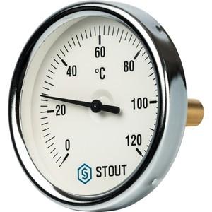 Термометр STOUT биметаллический Dn 80 мм гильза 50 1/2 с погружной гильзой (SIM-0001-805015)