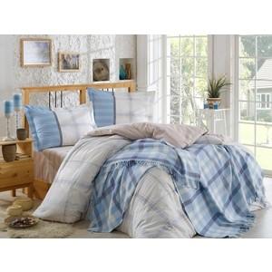 Набор для спальни Hobby home collection Carmela покрывало + КПБ Евро поплин бежевый (1501001416)