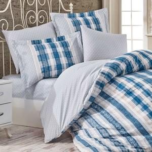 цена Комплект постельного белья Hobby home collection 1,5 сп, поплин, Debora синий (1501001750) онлайн в 2017 году
