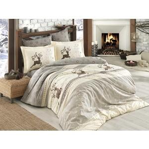 цена Комплект постельного белья Hobby home collection 1,5 сп, поплин, Ludovica кремовый (1501001579) онлайн в 2017 году