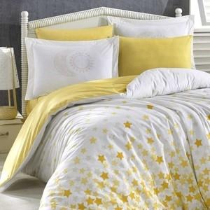 Комплект постельного белья Hobby home collection 1,5 сп, поплин, Star'S жёлтый (1501001771)
