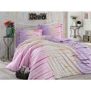 Комплект постельного белья Hobby home collection Евро, поплин, Batik Kirik лиловый (1501001589) цена