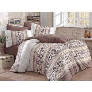 Комплект постельного белья Hobby home collection Евро, поплин, Carla коричневый (1501001586)