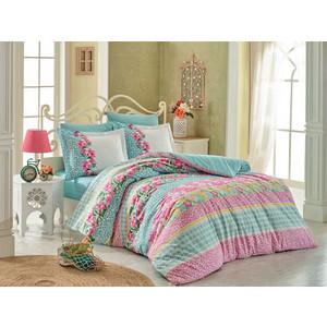 Комплект постельного белья Hobby home collection Евро, поплин, Scarlet бирюзовый (1501001700)