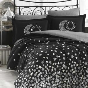 Комплект постельного белья Hobby home collection Евро, поплин, Star'S чёрный (1501001775)