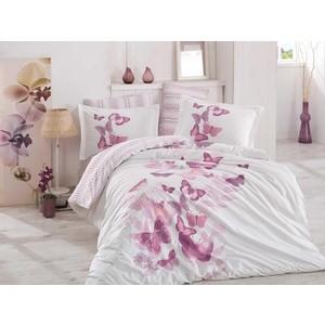 Комплект постельного белья Hobby home collection Евро, поплин, Sueno лиловый (1501001335)