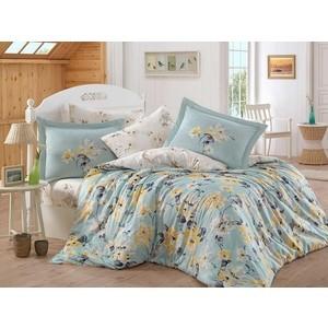 цена Комплект постельного белья Hobby home collection Евро, сатин, Lavida бирюзово-зелёный (1501001366) онлайн в 2017 году