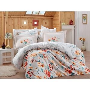 цена Комплект постельного белья Hobby home collection Евро, сатин, Lavida красный (1501001367) онлайн в 2017 году
