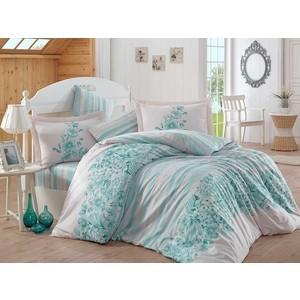 Комплект постельного белья Hobby home collection Евро, сатин, Serena бирюзовый (1501001372)