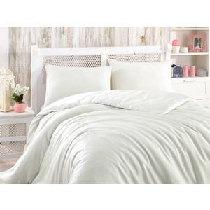 цена Комплект постельного белья Hobby home collection Евро, сатин-жаккард, Stripe кремовый (1501001612) онлайн в 2017 году