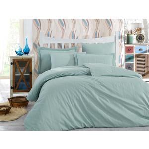 цена Комплект постельного белья Hobby home collection Евро, сатин-жаккард, Stripe минт (1501001617) онлайн в 2017 году