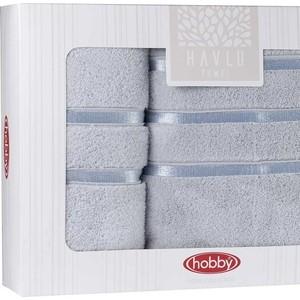 цена Набор из 2 полотенец Hobby home collection Dolce (50x90/70x140) светло-голубой (1501001819) онлайн в 2017 году