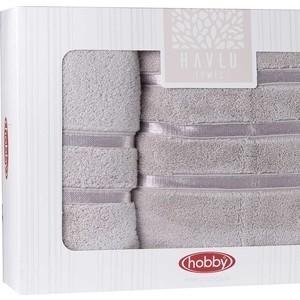 цена Набор из 2 полотенец Hobby home collection Dolce (50x90/70x140) светло-лиловый (1501001821) онлайн в 2017 году
