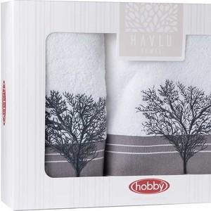 цена Набор из 2 полотенец Hobby home collection Infinity (50x90/70x140) белый (1501001828) онлайн в 2017 году