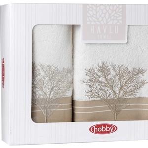 цена Набор из 2 полотенец Hobby home collection Infinity (50x90/70x140) кремовый (1501001829) онлайн в 2017 году