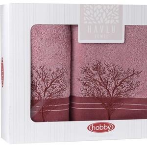 цена Набор из 2 полотенец Hobby home collection Infinity (50x90/70x140) светло-розовый (1501001831) онлайн в 2017 году