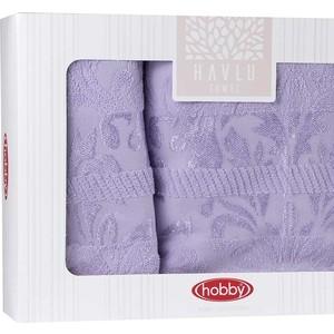 Набор из 2 полотенец Hobby home collection Versal (50x90/70x140) лиловый (1501001825)