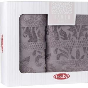 Набор из 2 полотенец Hobby home collection Versal (50x90/70x140) серый (1501001827)