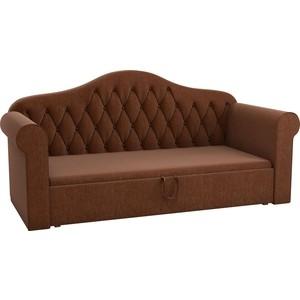 Детская кровать Мебелико Делюкс рогожка коричневый