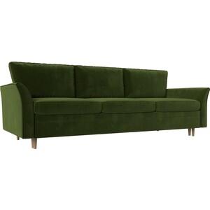 Диван-еврокнижка Мебелико София микровельвет зеленый диван еврокнижка мебелико ник 2 микровельвет зеленый