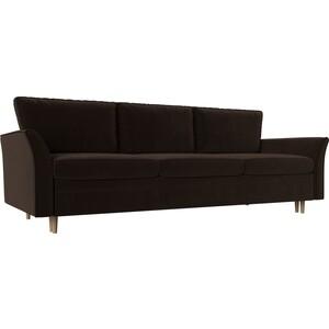 Диван-еврокнижка АртМебель София микровельвет коричневый диван еврокнижка софия 3