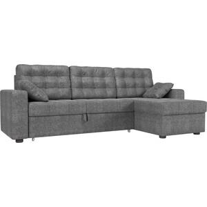 Угловой диван Мебелико Камелот рогожка серый правый угол