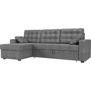 Угловой диван Мебелико Камелот рогожка серый левый угол