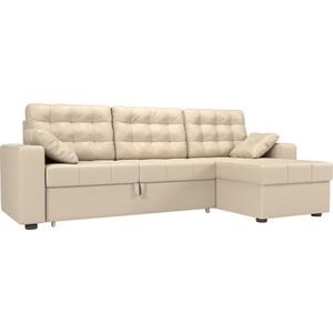 Угловой диван Мебелико Камелот эко-кожа бежевый правый угол