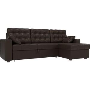 Угловой диван Мебелико Камелот эко-кожа коричневый правый угол hcollection диван кровать камелот