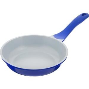 Сковорода d 26 см Biostal (Bio-FP-26 синий/серый)