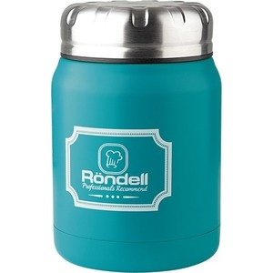 Термос для еды 0.5 л Rondell Turquoise Picnic (RDS-944) ковш rondell rds 716 turquoise